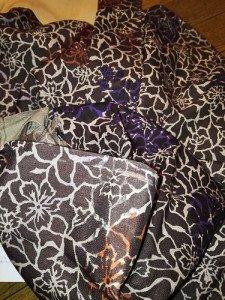 着物リメイク♪羽織からバルーン風スカートへ。